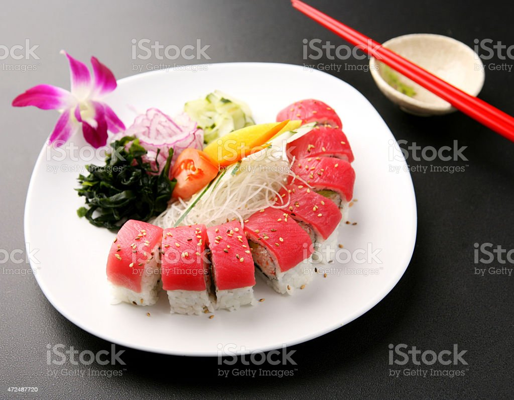 Tuna Roll stock photo