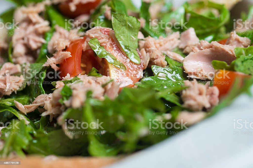 Tuna salad, close up stock photo