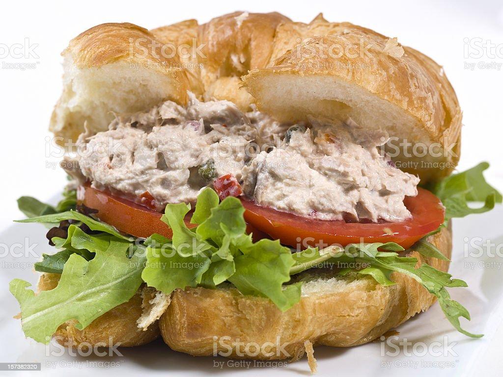 Tuna salad croissant sandwich royalty-free stock photo