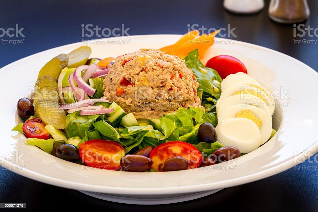 Tuna salad dish stock photo