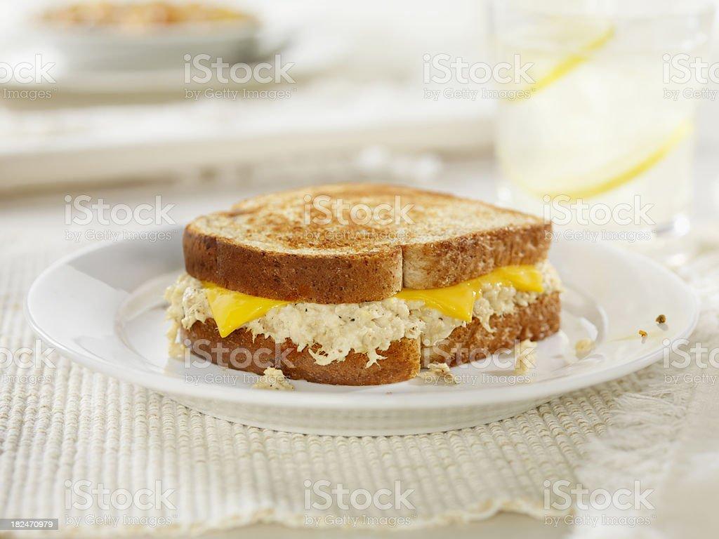 Tuna Salad Melt Grilled Sandwich royalty-free stock photo