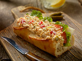 Tuna Salad Sandwich on a baguette