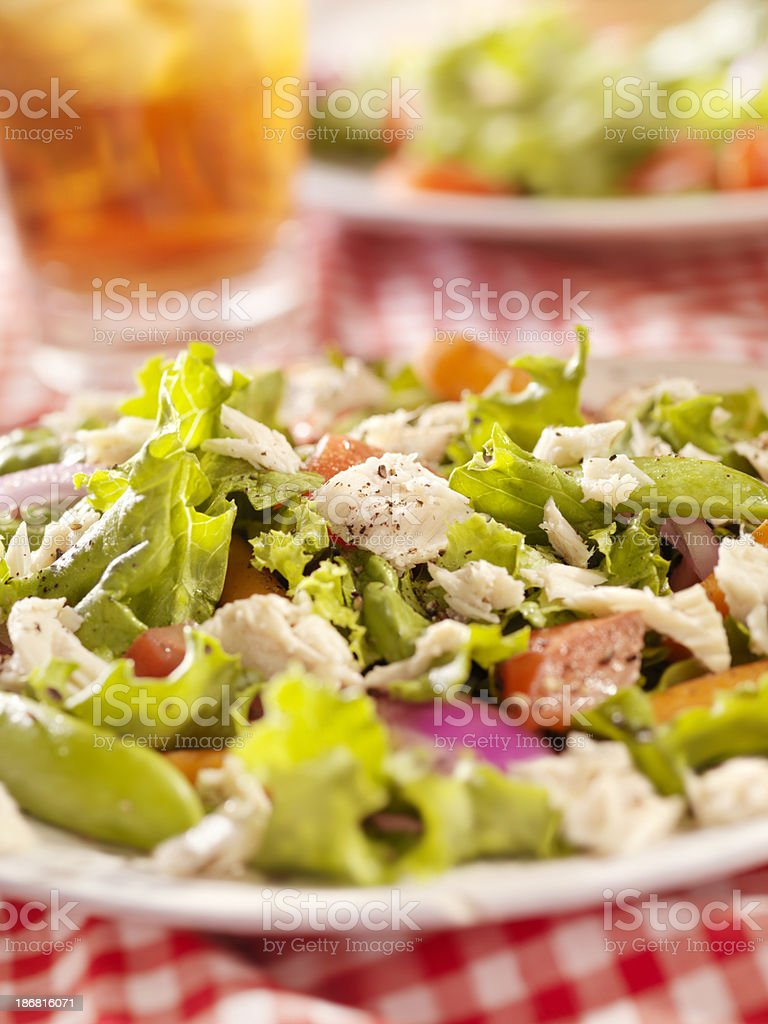Tuna Salad with Iced Tea royalty-free stock photo