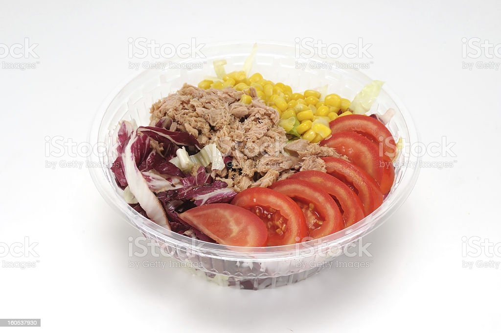 Tuna Salad with Tomatoes and Mais royalty-free stock photo