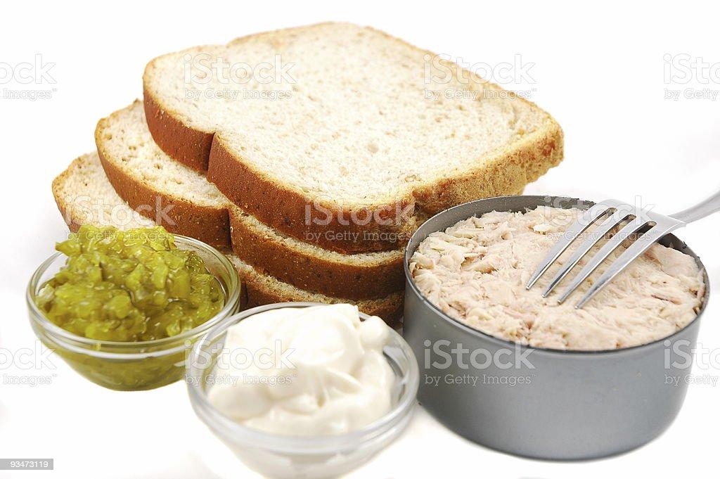 Tuna Sandwich Ingredients stock photo