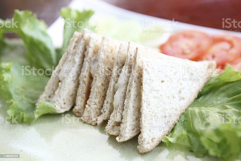 tuna sandwich isolated in white background royalty-free stock photo