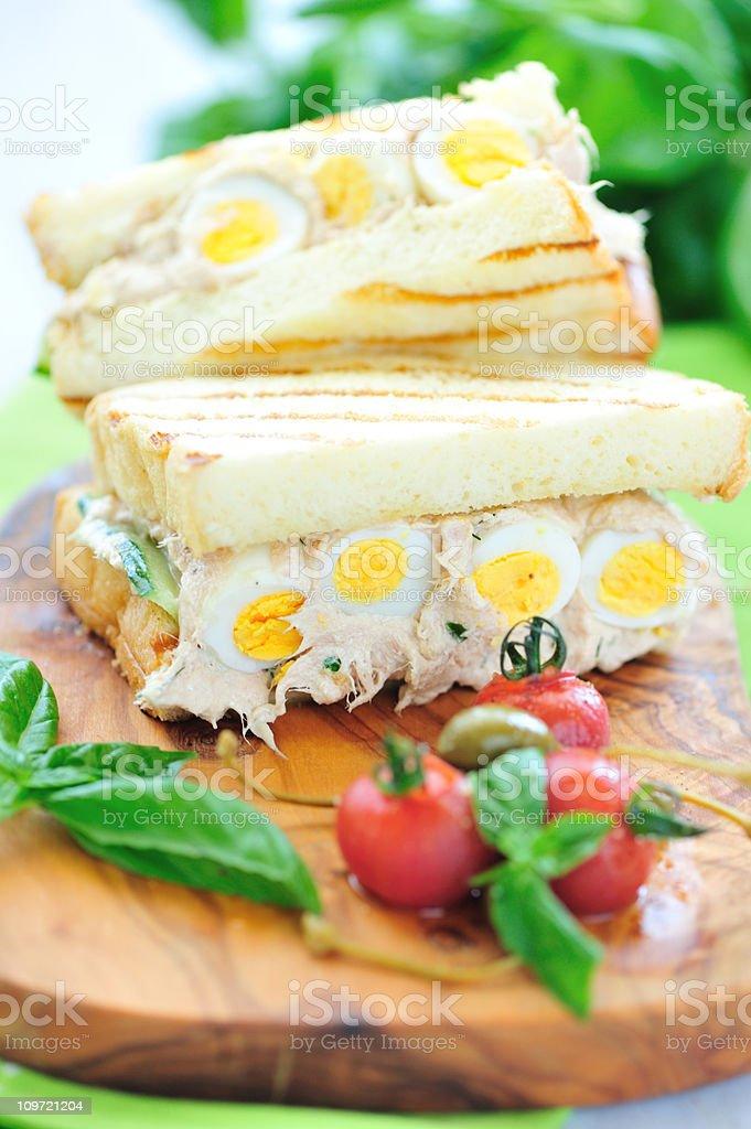 Tuna Sandwich Lunch stock photo