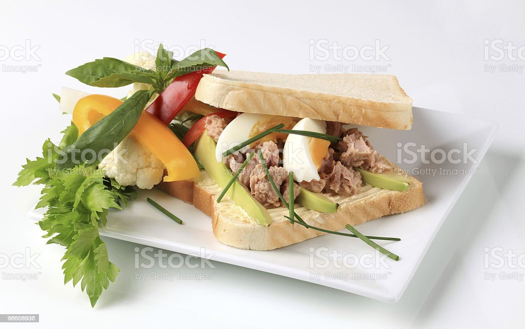 Тунец сэндвич Стоковые фото Стоковая фотография