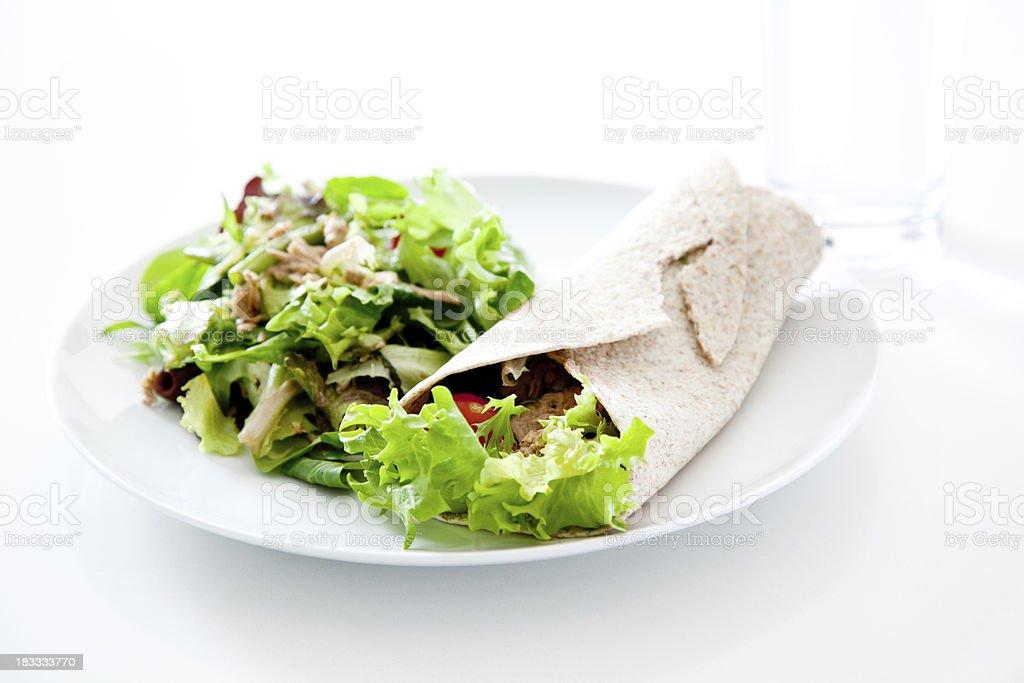 Tuna Sandwich Wrap royalty-free stock photo