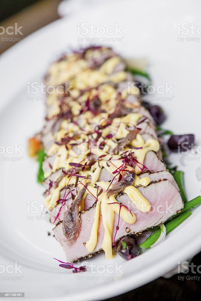 Tuna Sesame Steak royalty-free stock photo