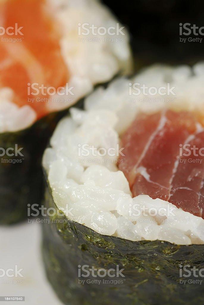 tuna sushi macro royalty-free stock photo