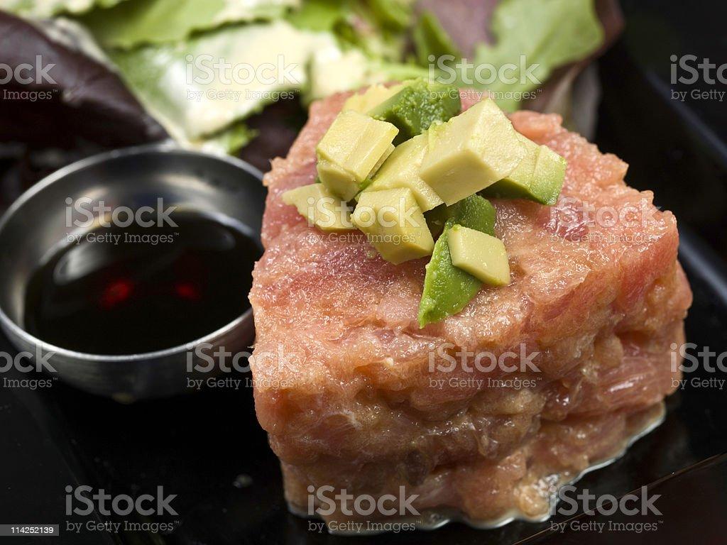 Tuna tartar royalty-free stock photo