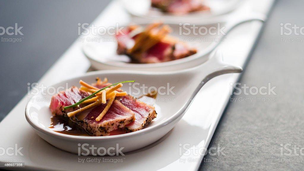 Tuna Tataki Sushi Dish stock photo