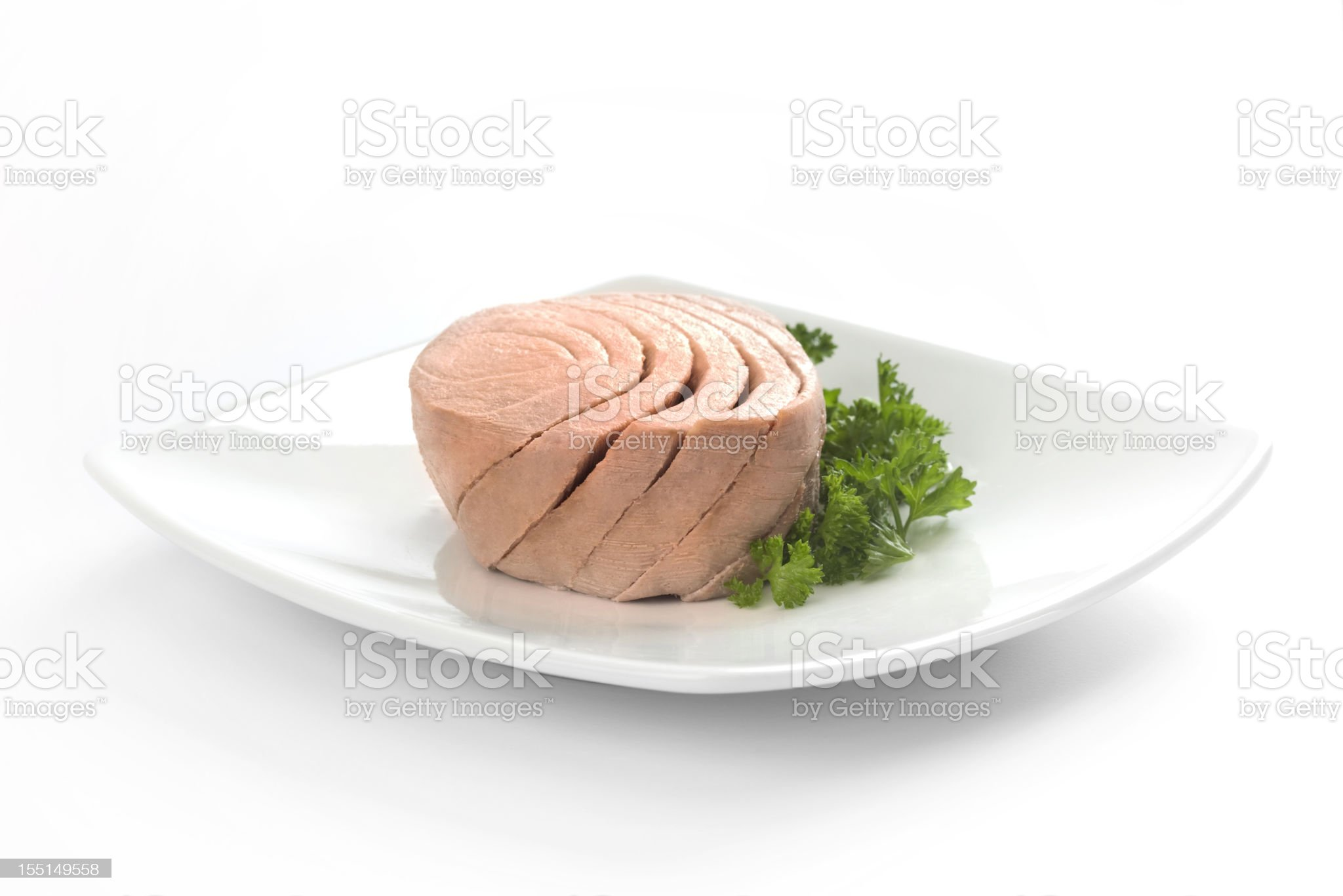 Tuna  with parsley royalty-free stock photo