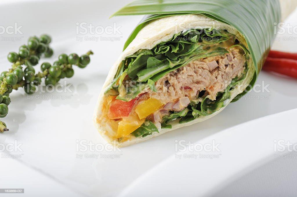 Tuna Wrap royalty-free stock photo