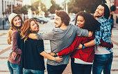 Tuned Back Friend Hug