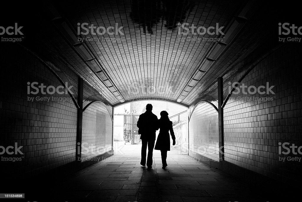 Tunel do amor foto de stock royalty-free