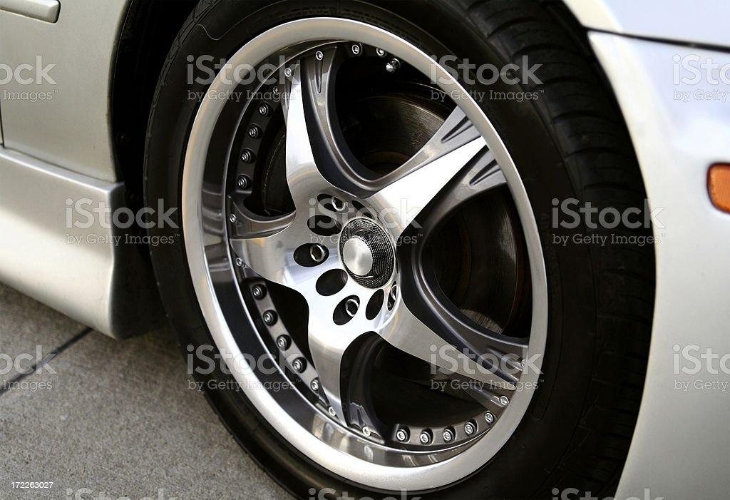 Tuner Car Rim royalty-free stock photo