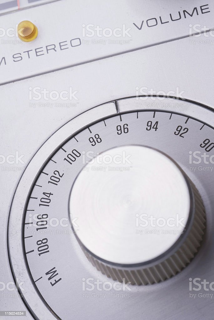 FM Tuner Dial stock photo