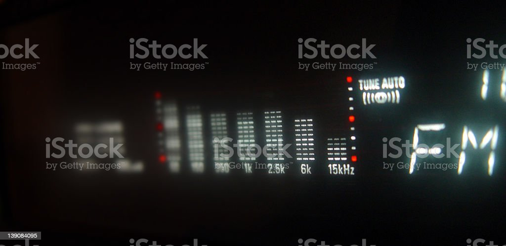 FM Tuner Equalizer royalty-free stock photo