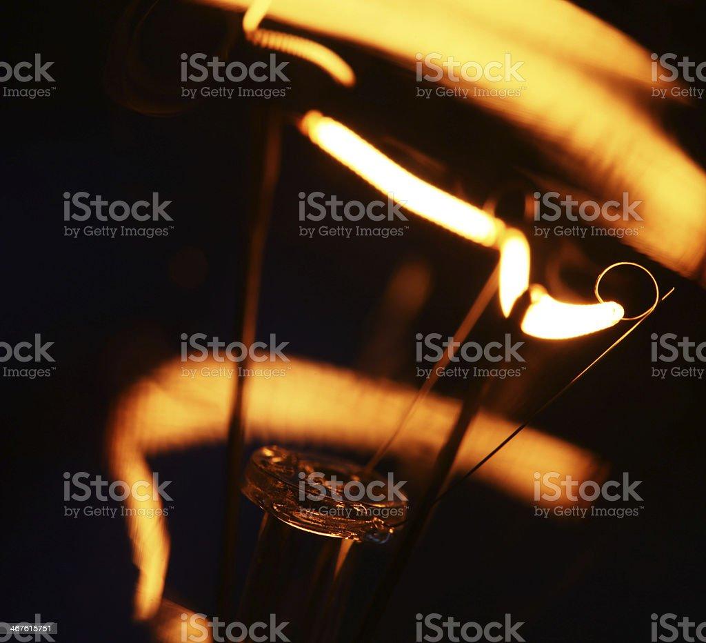 Tungsten Bulb stock photo
