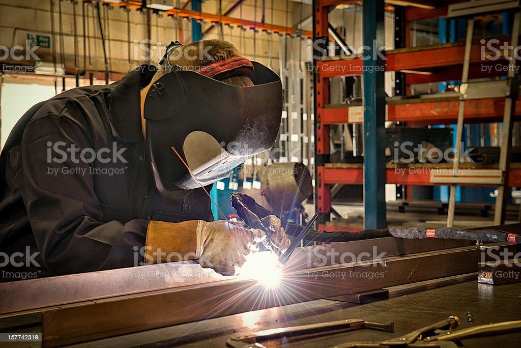 Tungsten Inert Gas Welding TIG stock photo