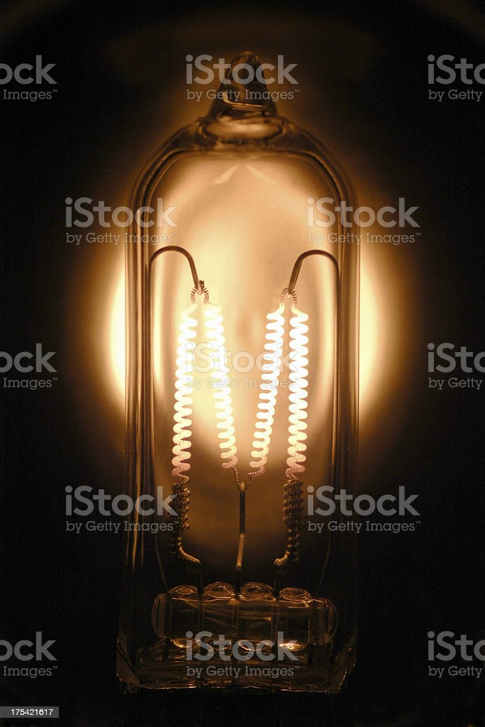 Tungsten Lamp, Close-Up #1 royalty-free stock photo