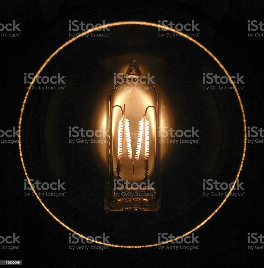 Tungsten Lamp in a Circle stock photo