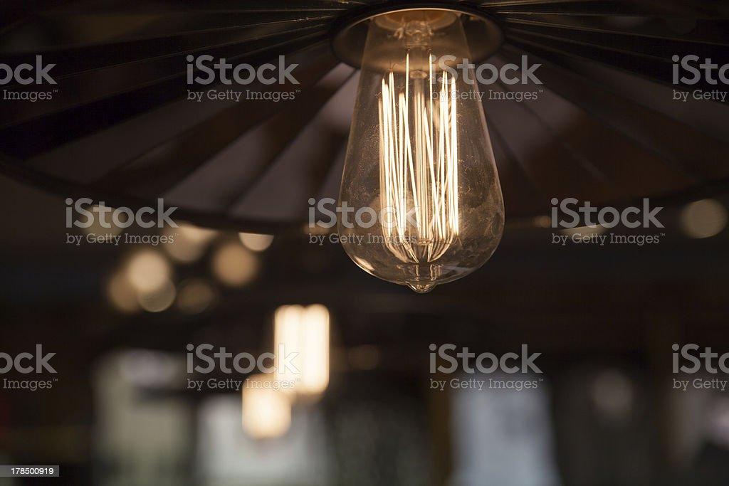 Tungsten light bulb royalty-free stock photo