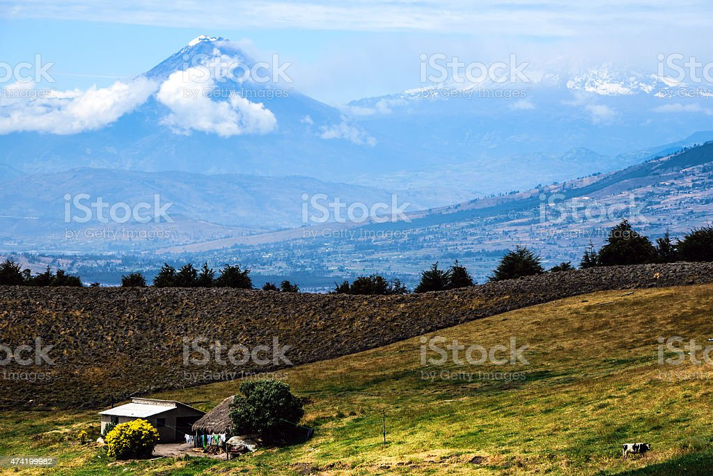 Tungurahua and Altar Volcanoes, Andes of central Ecuador stock photo
