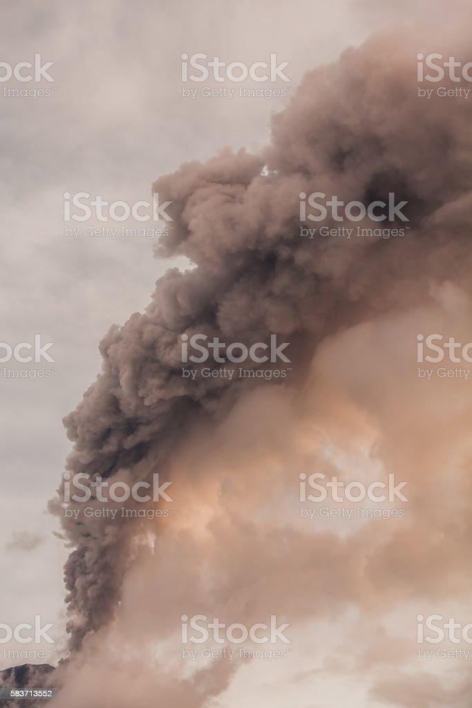 Tungurahua Volcano, Powerful Explosion stock photo