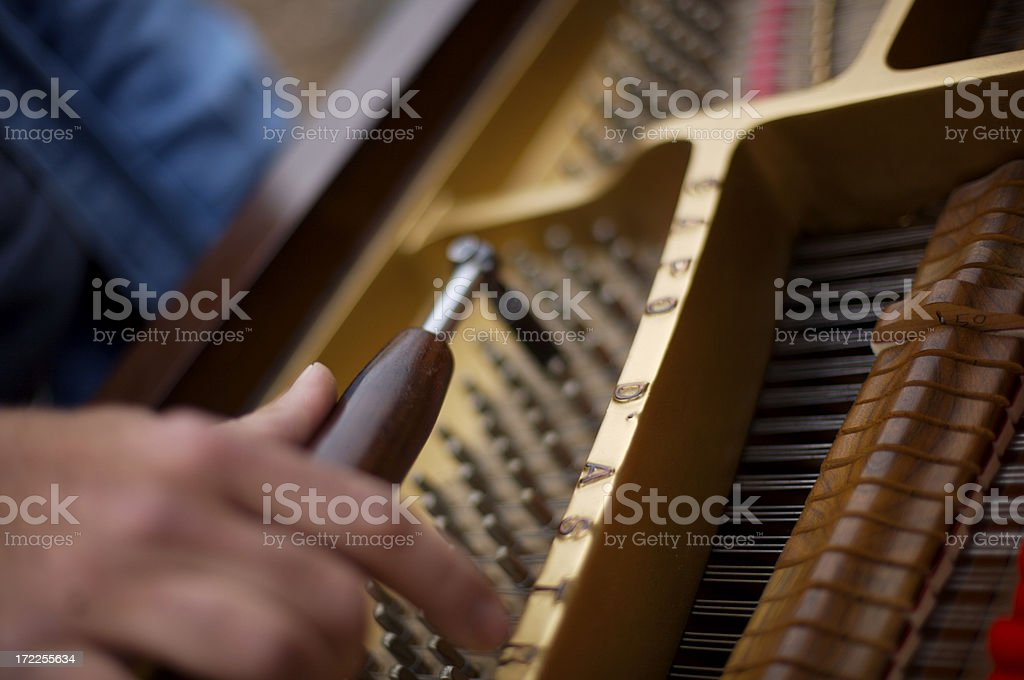 Tuning a piano stock photo