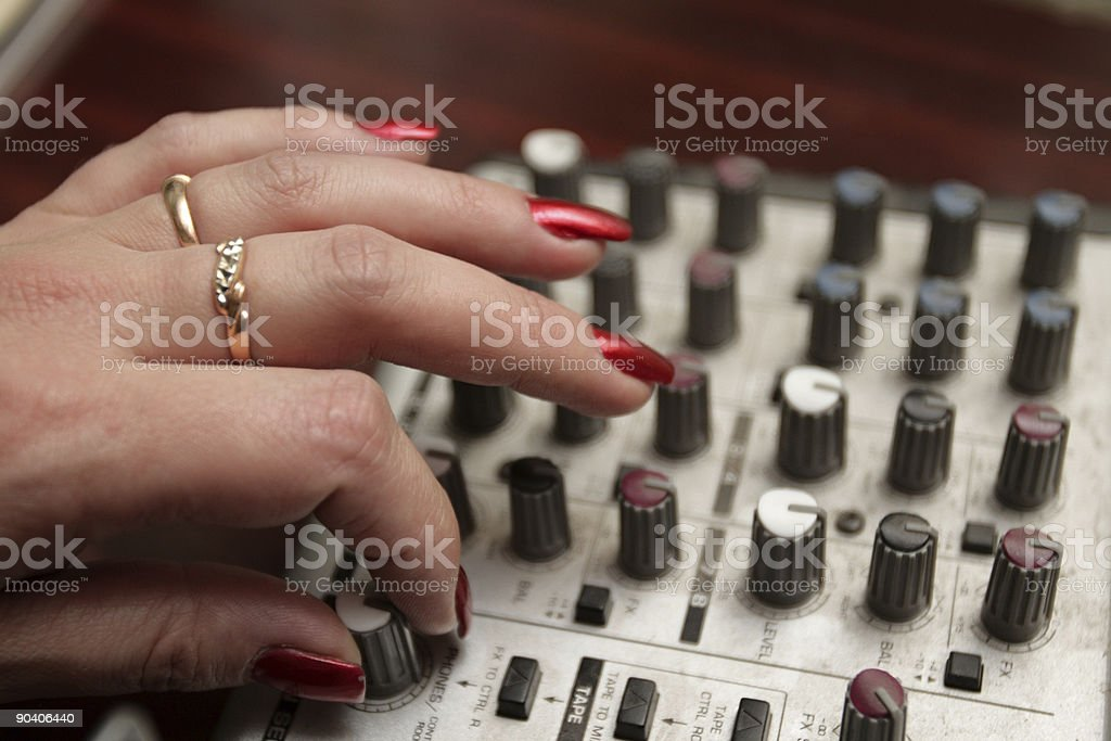tuning acoustical frequency royalty-free stock photo