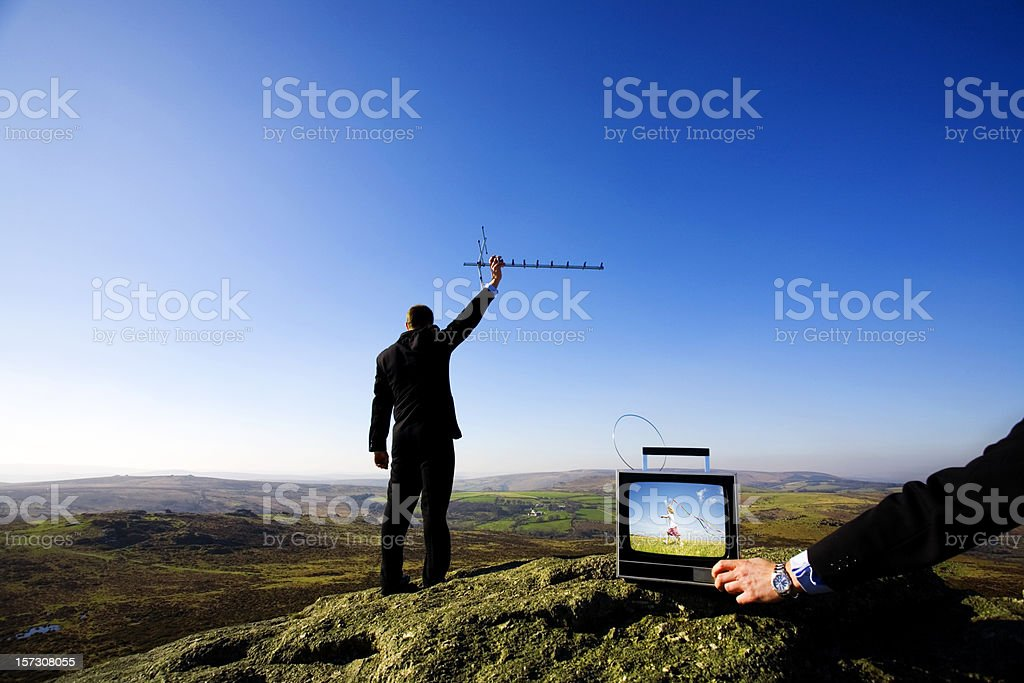 Tuning in royalty-free stock photo