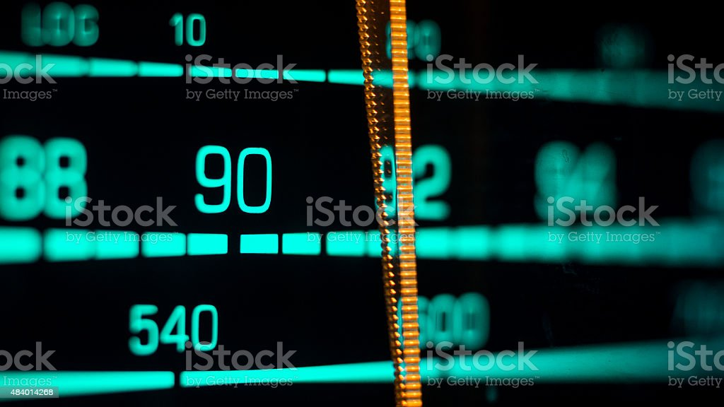 Tuning into 90FM, 540 AM stock photo