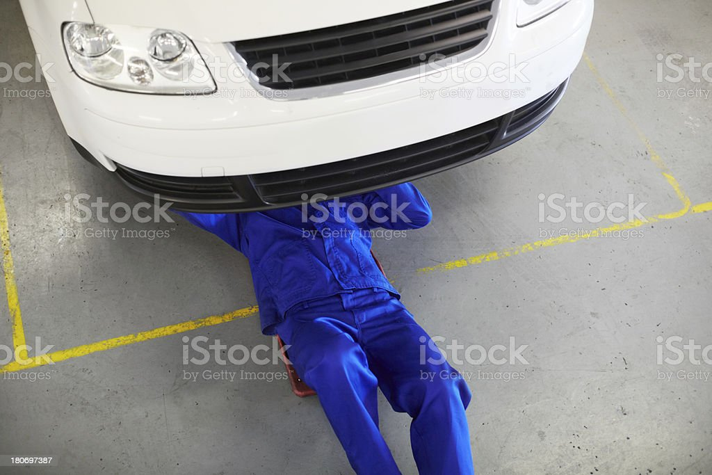 Tuning up the car royalty-free stock photo