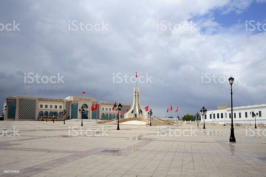 Tunis main square. Kasbah square stock photo