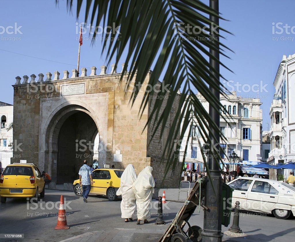 Tunis street stock photo