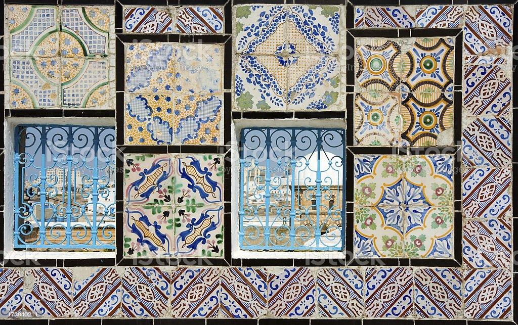 Tunis view through two windows royalty-free stock photo