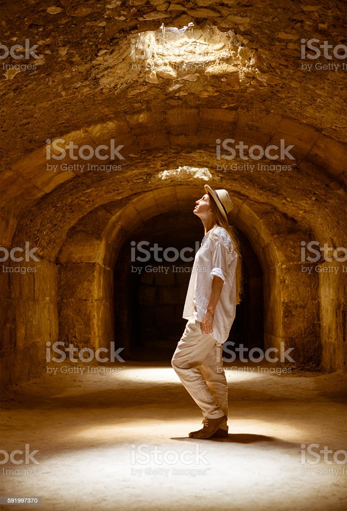 Tunisia El Jem roman apmphitheatre stock photo