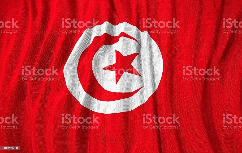Tunisia flag 3d illustration stock photo