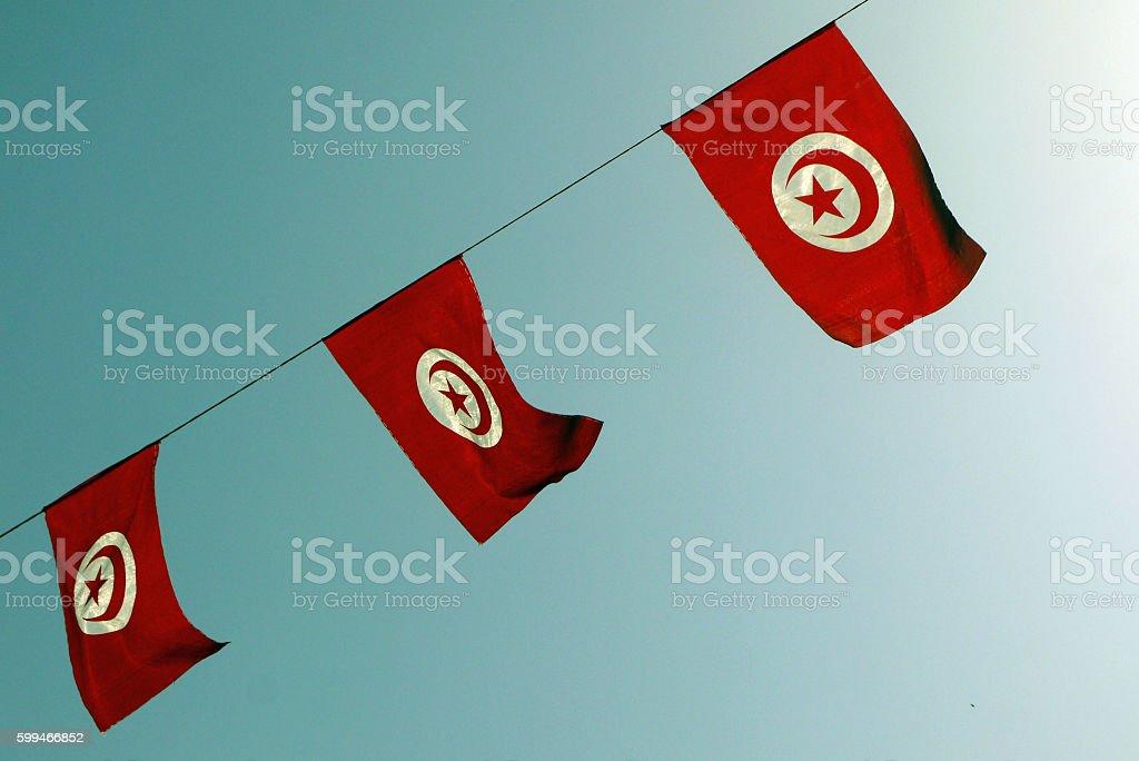 Tunisia flags. TUNISIA. stock photo