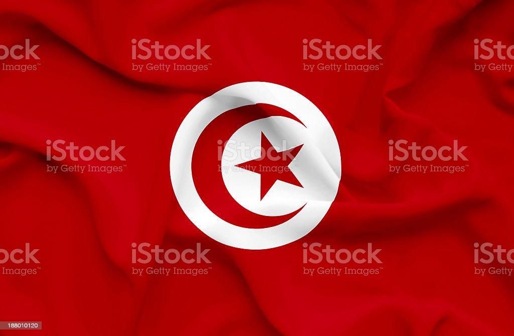 Tunisia waving flag stock photo