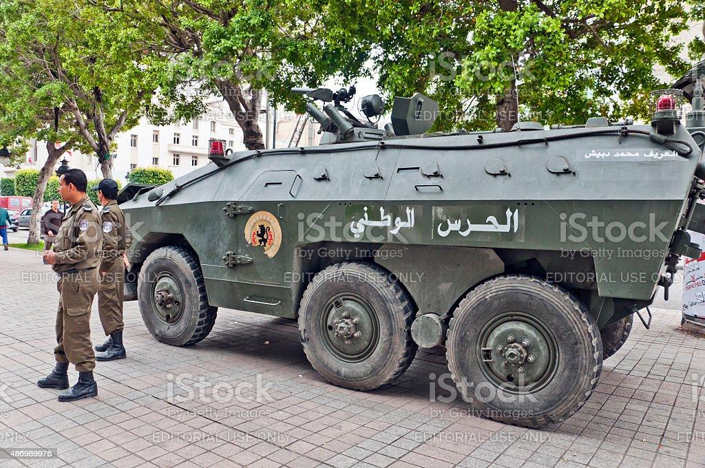 Tunisian army stock photo