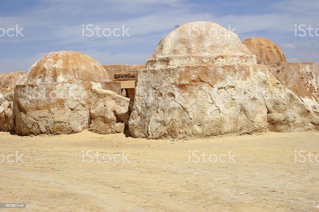 Tunisian Huts royalty-free stock photo
