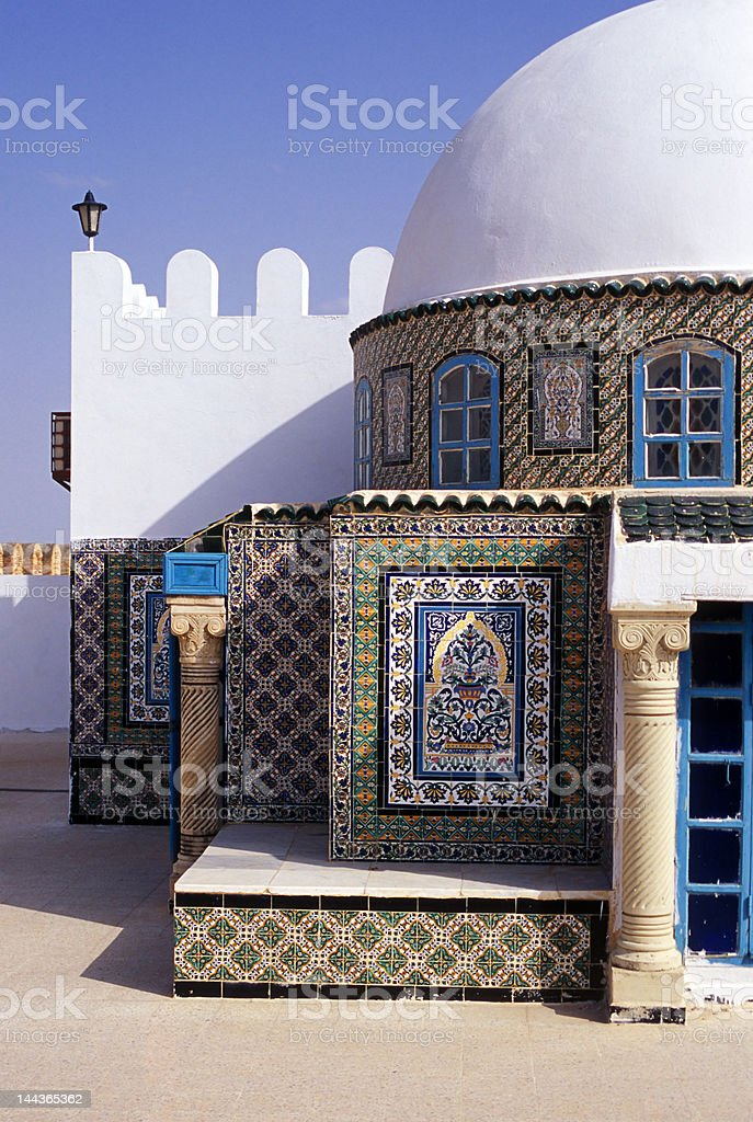 tunisian mosque royalty-free stock photo