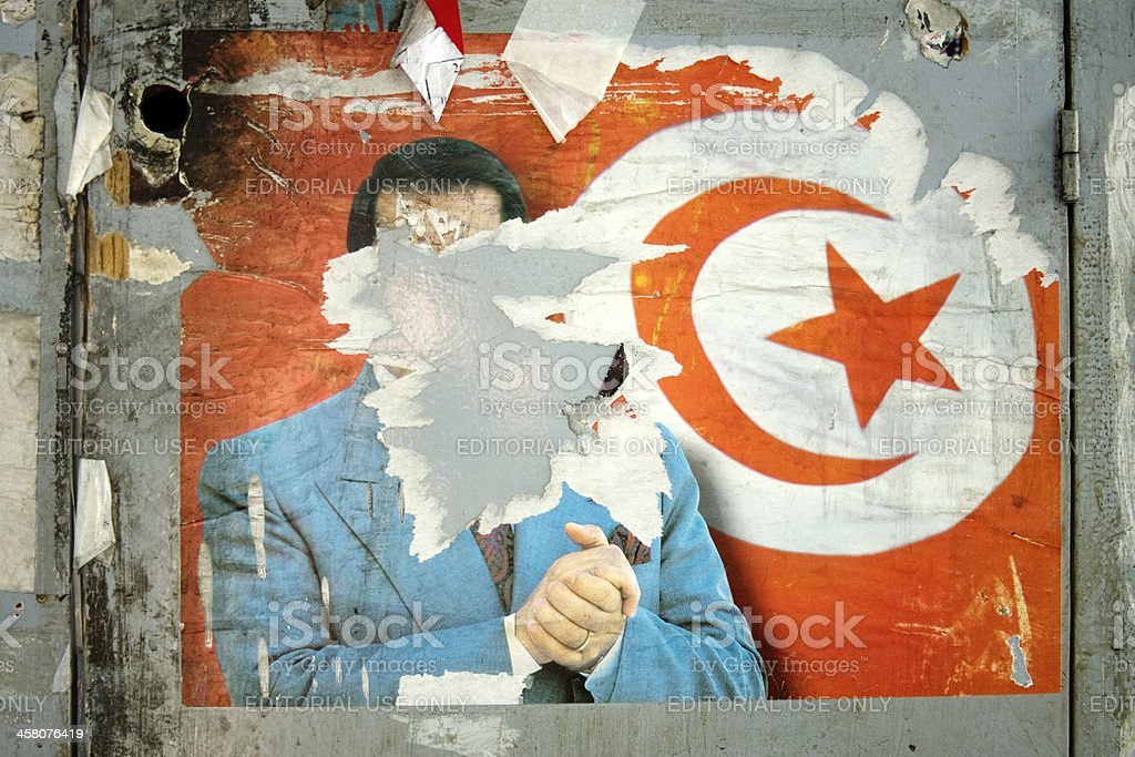Tunisian President Zine El Abidine Ben Ali royalty-free stock photo