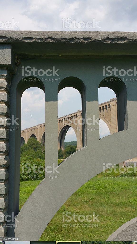 Tunkhannock Viaduct stock photo