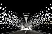 Tunnel bridge with perfect symmetry