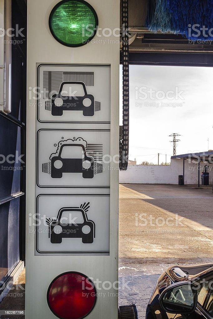 Tunnel Car Wash Machine - Tunel  lavado de coches stock photo